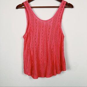 Tops - Candies Lace Scoop Back Tank
